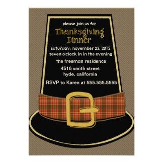 Pilgrim Hat Thanksgiving Invitation