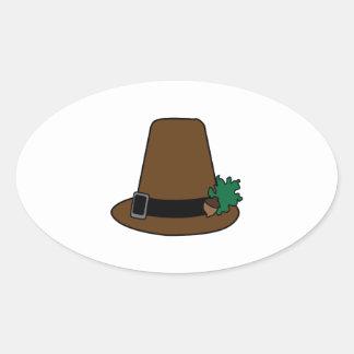 Pilgrim High Hat Oval Sticker