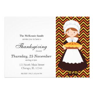 Pilgrim Kids Thanksgiving dinner Custom Invitations