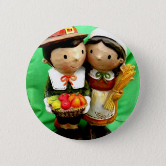 Pilgrim Pair Pinback Button