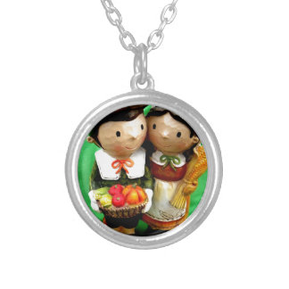 Pilgrim Pair Silver Plated Necklace