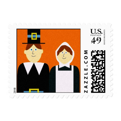 Pilgrim People Postage Stamp