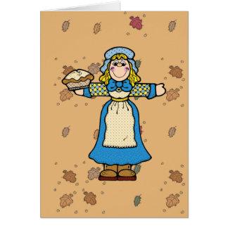 pilgrim pie girl greeting cards