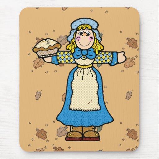 pilgrim pie girl mouse pad