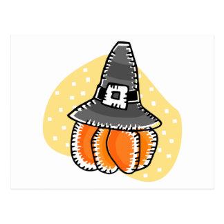 pilgrim pumpkin post cards