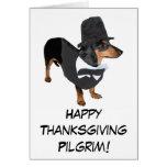 Pilgrim Puppy Thanksgiving Card