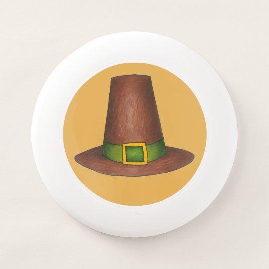 Pilgrim Puritan Hat Happy Thanksgiving Autumn Fall Wham-O Frisbee ... 5d320e5df214