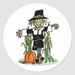 Pilgrim Scarecrow Stickers