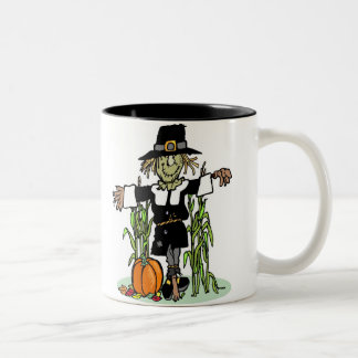 Pilgrim Scarecrow Two-Tone Coffee Mug