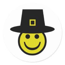 Pilgrim Smiley Classic Round Sticker