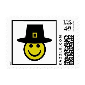 Pilgrim Smiley Postage Stamp