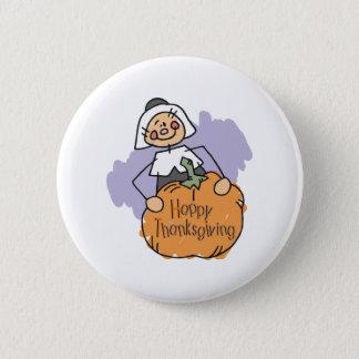 Pilgrim Thanksgiving Decoration Button