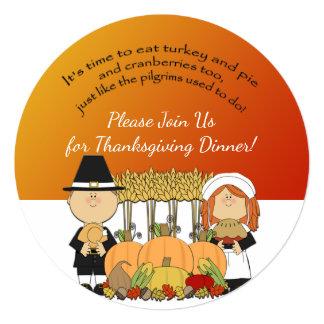 Pilgrim Thanksgiving Dinner Invite