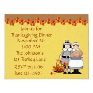 Pilgrim Thanksgiving Invitation