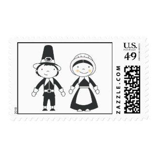 Pilgrim Thanksgiving Stamp by TearDrop Weddings