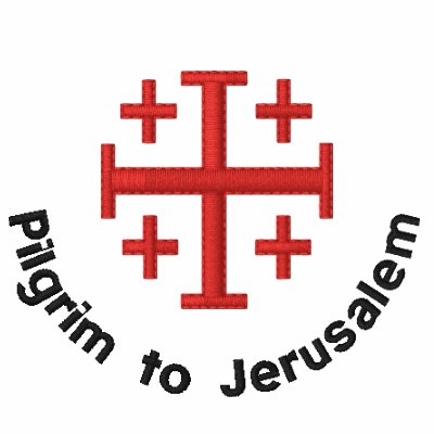 Pilgrim to Jerusalem Embroidered Shirt