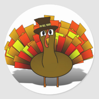 Pilgrim Turkey Classic Round Sticker