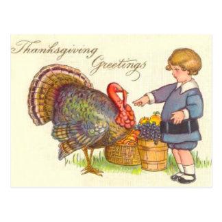 Pilgrim & Turkey Postcard