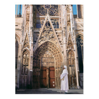 """Pilgrimage"" Chartres Cathedral Watercolor Postcard"