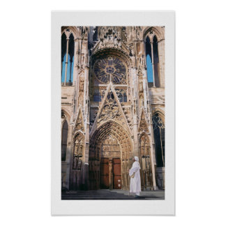 """Pilgrimage"" Chartres Cathedral Watercolor Poster"