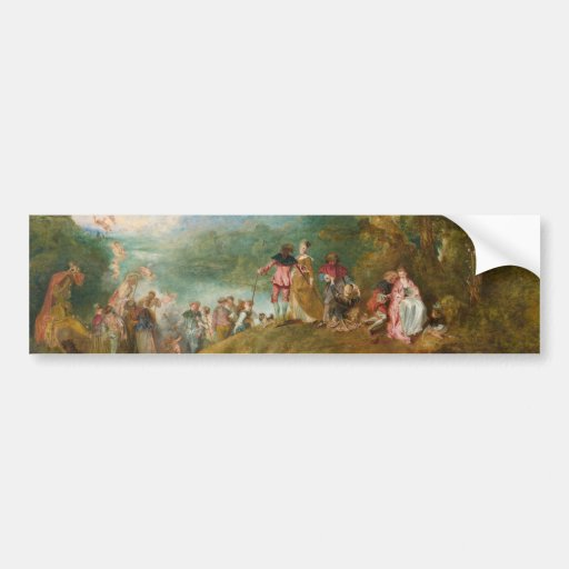 Pilgrimage to Cythera The Embarkation for Cythera Bumper Sticker