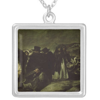 Pilgrimage to San Isidro's Fountain, c.1821/3 Silver Plated Necklace