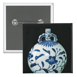 Pilgrim's 'Blue and White' Gourd with Floral Pinback Button