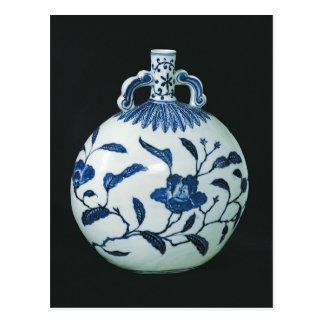 Pilgrim's 'Blue and White' Gourd with Floral Postcard
