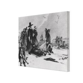 Pilgrims Canvas Print