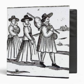 Pilgrims departing for the New World Binder