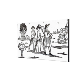 Pilgrims departing for the New World Canvas Print
