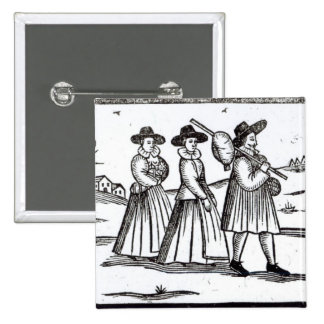 Pilgrims departing for the New World Pinback Button