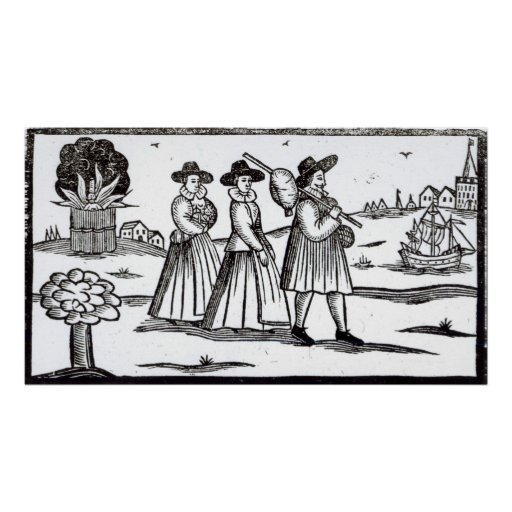 Pilgrims departing for the New World Poster
