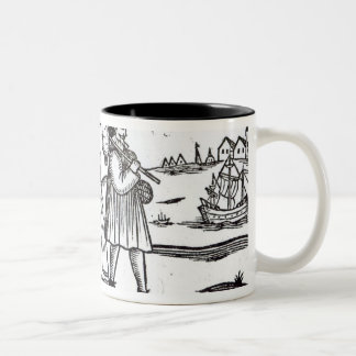 Pilgrims departing for the New World Two-Tone Coffee Mug