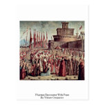Pilgrims Encounter With Pope By Vittore Carpaccio Postcards