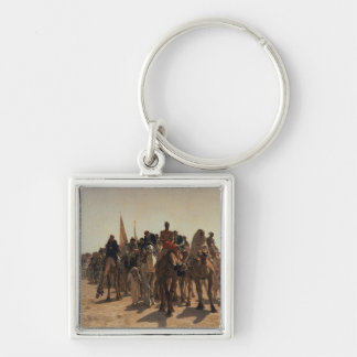 Pilgrims Going to Mecca, 1861 Keychain