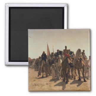 Pilgrims Going to Mecca, 1861 Refrigerator Magnets