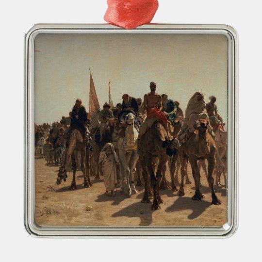 Pilgrims Going to Mecca, 1861 Metal Ornament