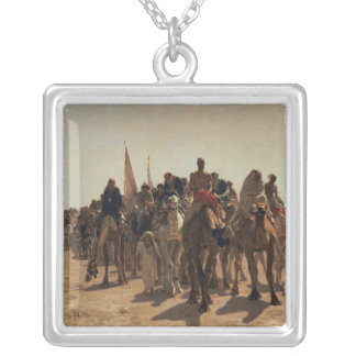 Pilgrims Going to Mecca, 1861 Silver Plated Necklace