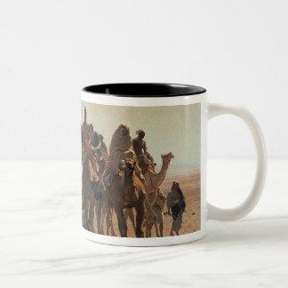 Pilgrims Going to Mecca, 1861 Two-Tone Coffee Mug