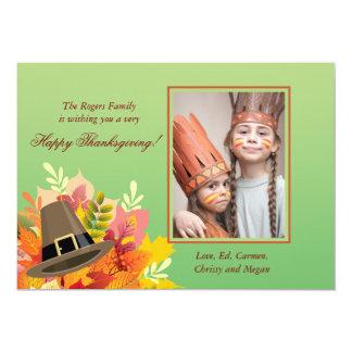 Pilgrim's Hat Thanksgiving Photo Invitation