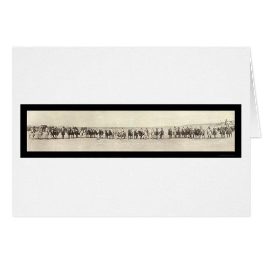 Pilgrims on Horses Photo 1921 Card