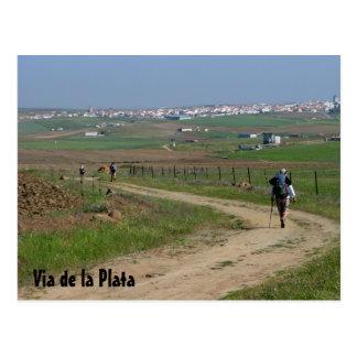Pilgrims on the VdlP Postcard