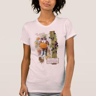 Pilgrims, Plums and Pumpkins Vintage Thanksgiving T-Shirt