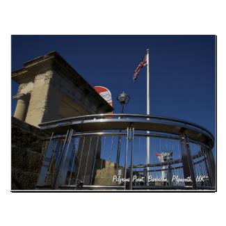 Pilgrims Point, Barbican, Plymouth postcard