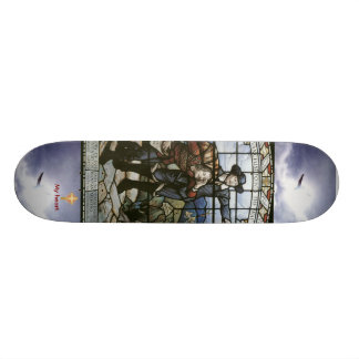 Pilgrims Progress (Cross my heart) Skateboard Deck