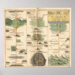 Pilgrim's Progress Map Chart