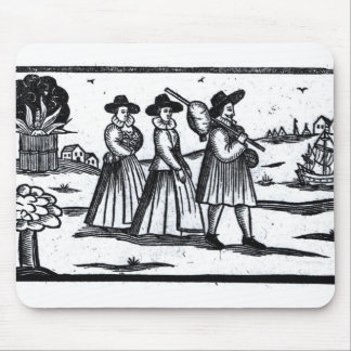 Pilgrims set sail on the Mayflower Mouse Pad