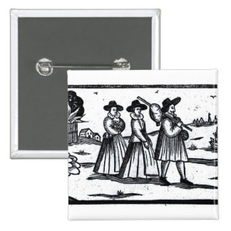 Pilgrims set sail on the Mayflower Pinback Button