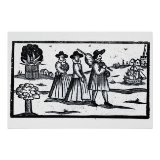 Pilgrims set sail on the Mayflower Print